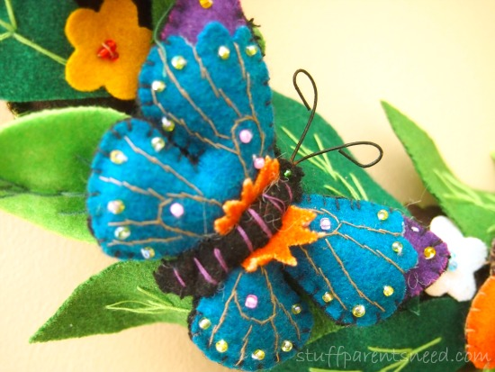 close up of butterfly wreath butterfly gifts