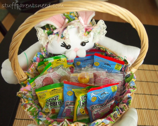 Easter basket full of YumEarth natural candy