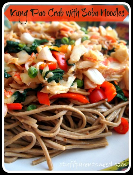 kung pao crab with soba noodles annie chun's