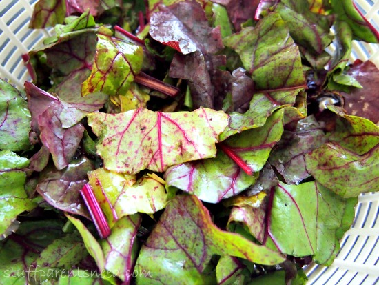 how to cook beet greens chop leaves