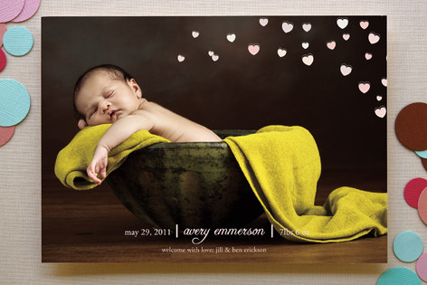 birth announcement from minted.com