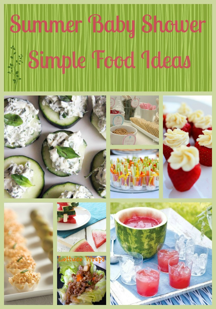 summer baby shower food ideas