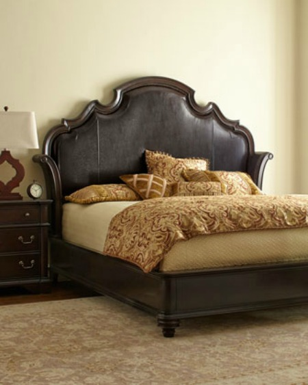dream bed: leather bedframe