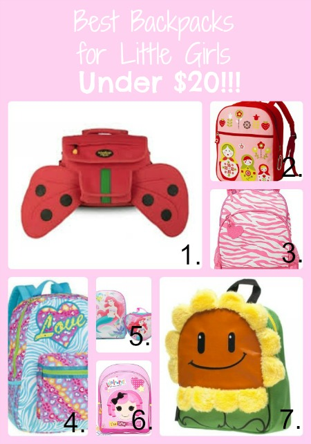 best little girls backpacks under $20