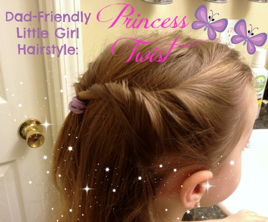 simple little girl hairstyle princess twist
