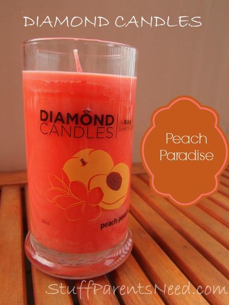 diamond candles peach paradise