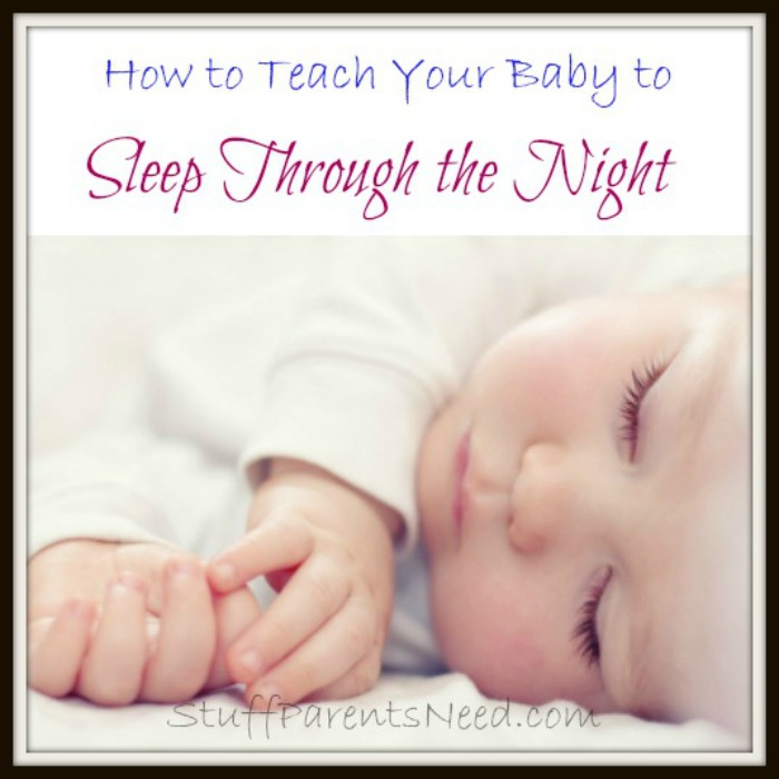 how to teach baby to sleep through the night