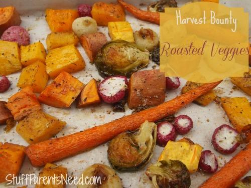 thanksgiving recipes: harvest bounty roasted veggies