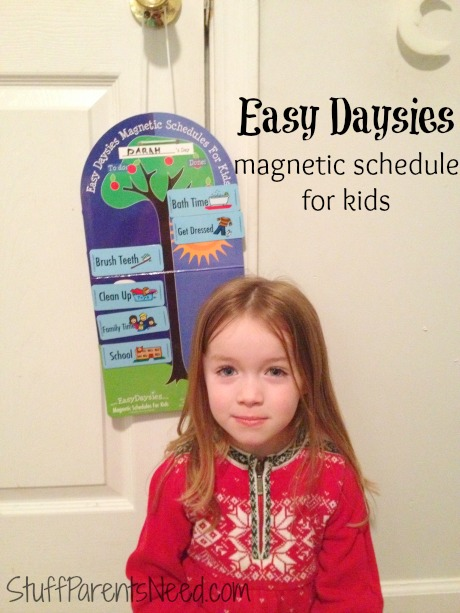 easy daysies magnetic schedule for kids