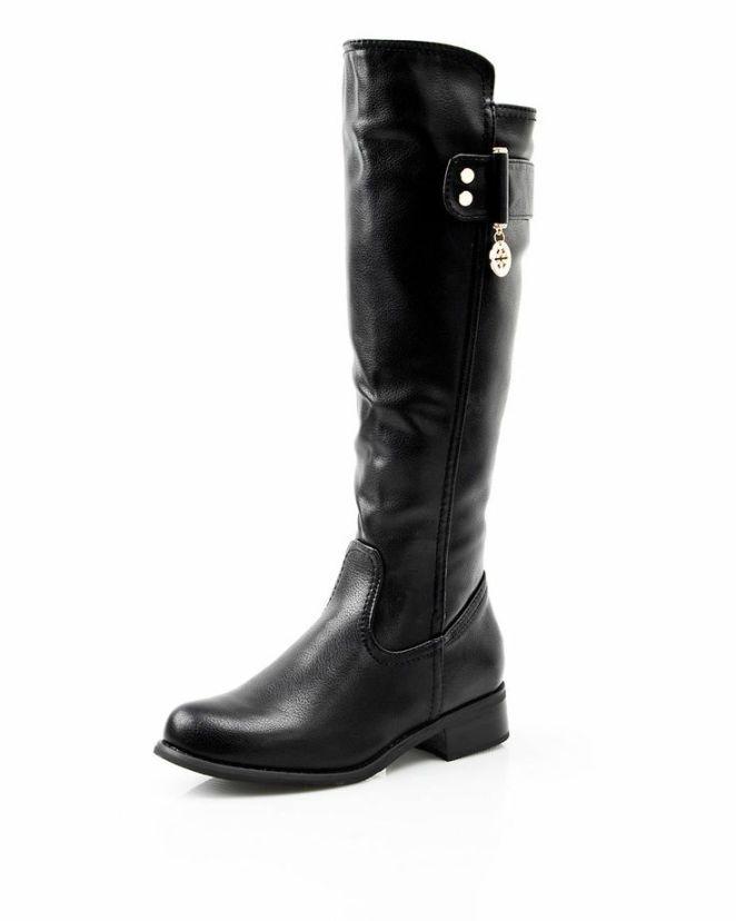 modnique black riding boots