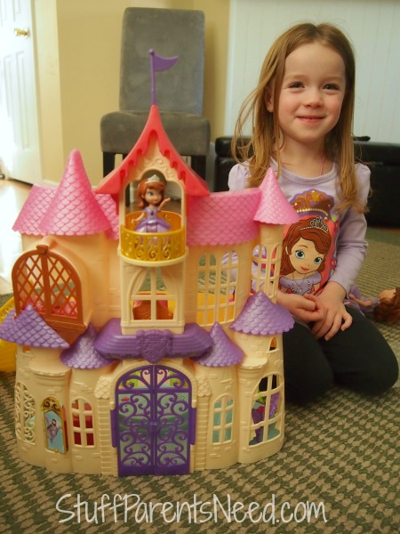 sofia the first magical talking castle front view