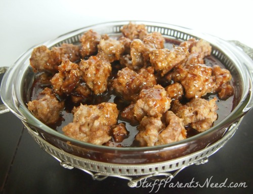 sweet and spicy barbecue meatballs