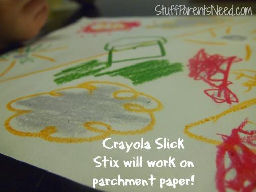 crayola pan lining paper craft 4