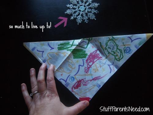 crayola pan lining paper craft 6