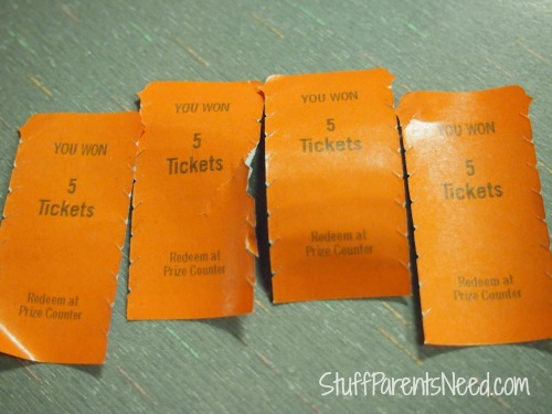 chuck e cheese promotional tickets