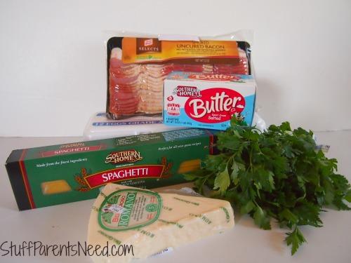 bacon love spaghetti carbonara ingredients