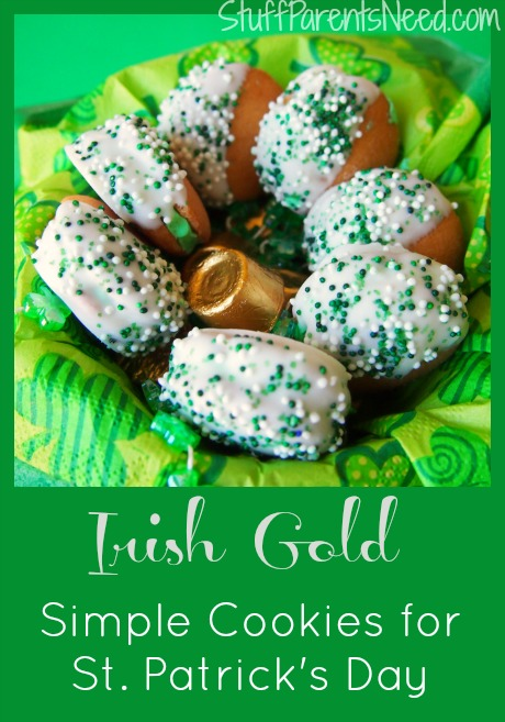 irish gold st. patrick's day cookies
