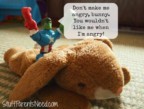 #MyMashUp hulk head riding a bunny