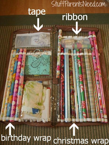 wrap it organize gift wrap