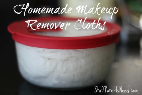 homemade makeup remover cloths