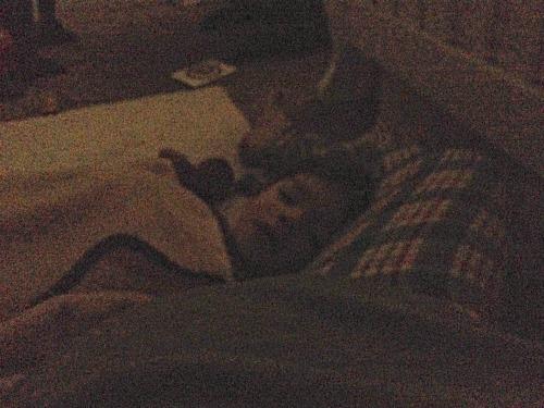 layah sleeping on me