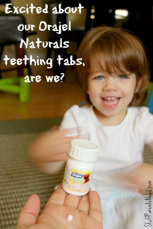 orajel naturals teething tabs