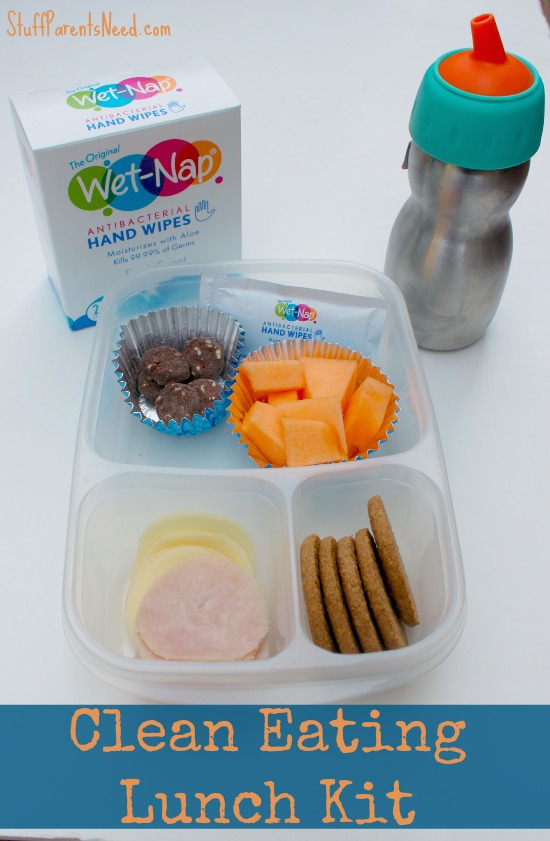 clean eating lunch kit with wet nap