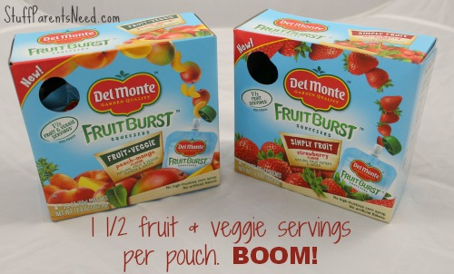 del monte fruit burst packaging