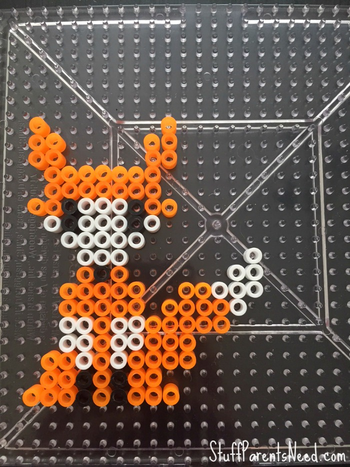 little prince craft fox perler beads
