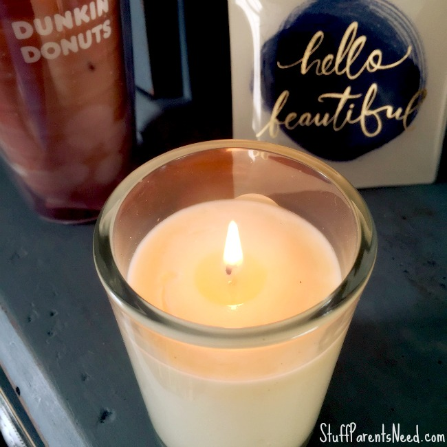 dunkin donuts me time candle