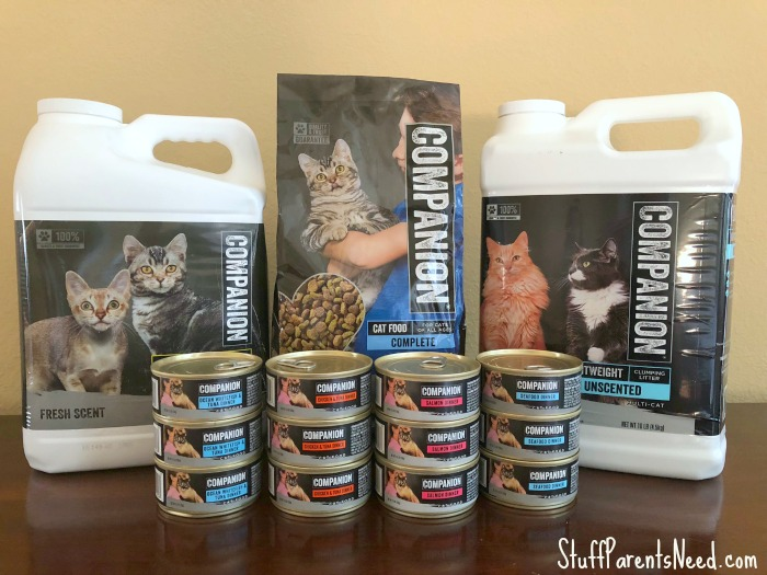 companion products for cats exclusively at food lion