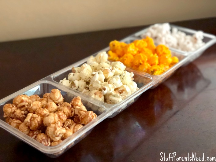 popcorn bar as a no cook lunch idea