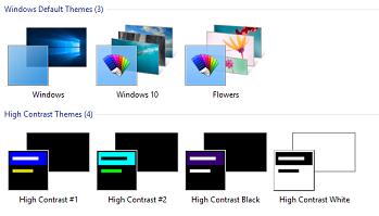 high contrast themes windows 10