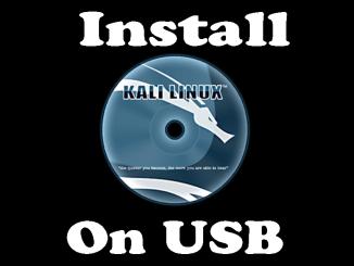 kali linux usb