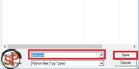 save as python script