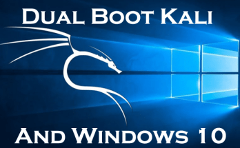 windows 10 and kali linux dual boot