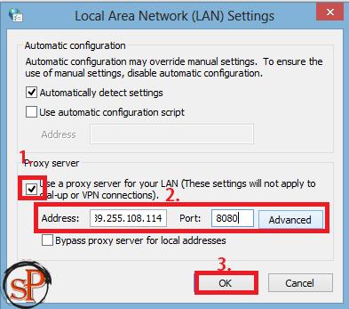 change proxy settings