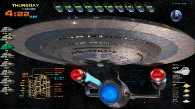 star trek rainmeter skin