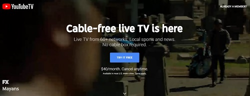 youtube tv free sports streaming