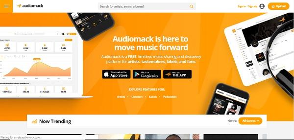 audiomack free music sites