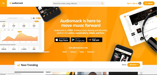 audiomack free music sites