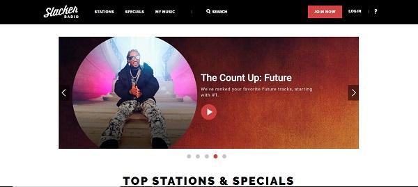 slacker radio music site