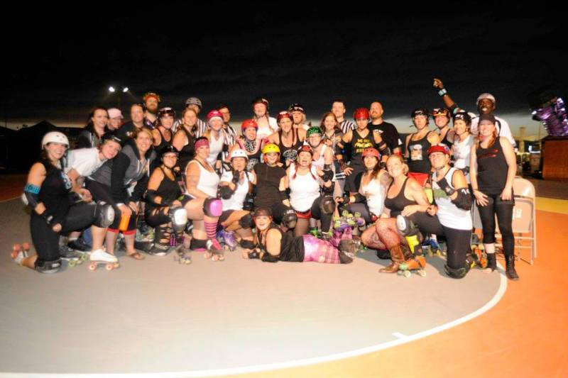 Rolling Sturgis skaters