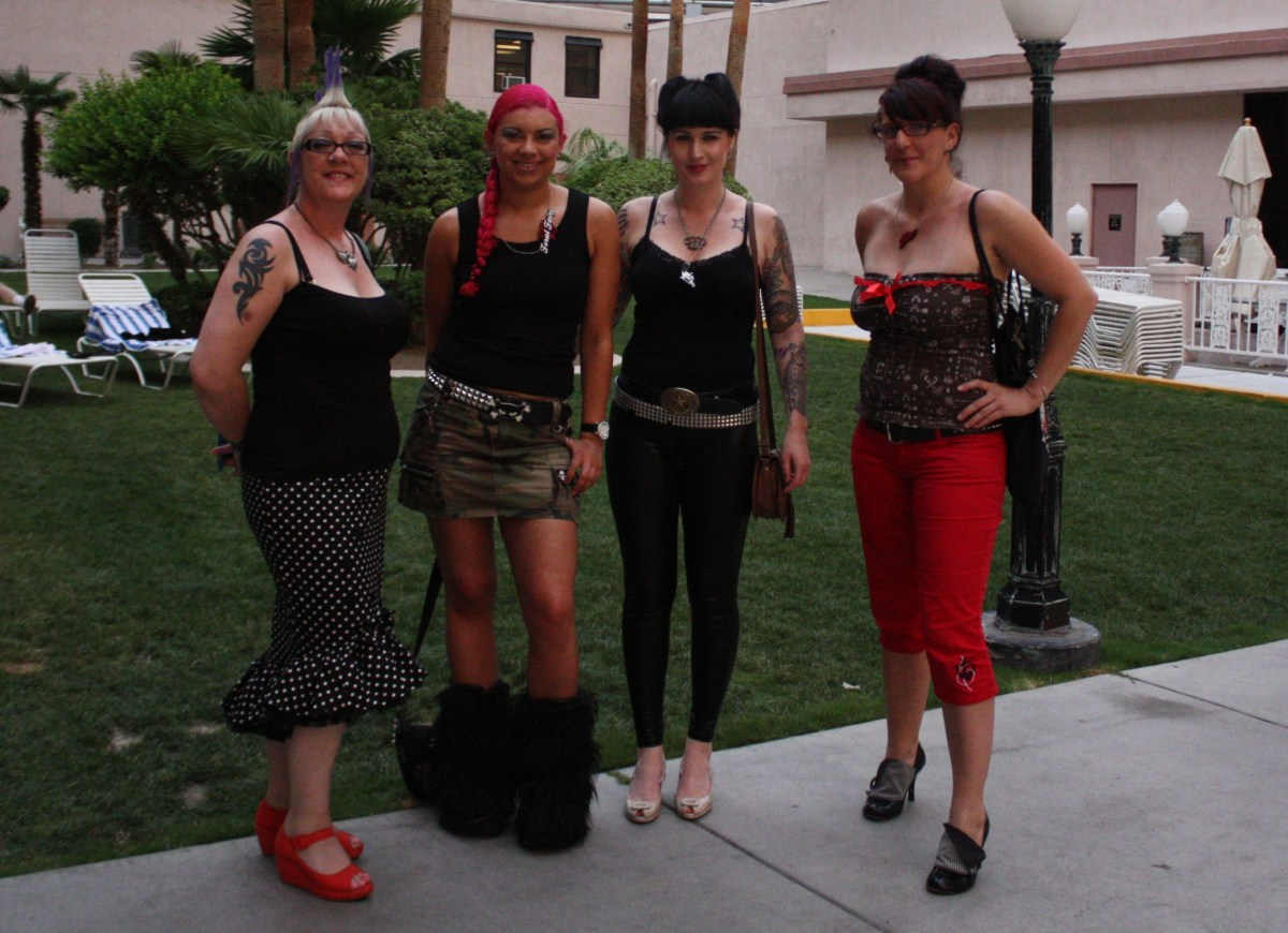 Kaz, Feral, El & Me dolled up for a night out