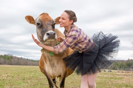 Ballerina with cow
