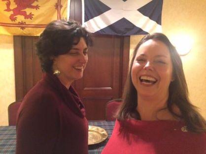 Stasha and Kia having a laugh