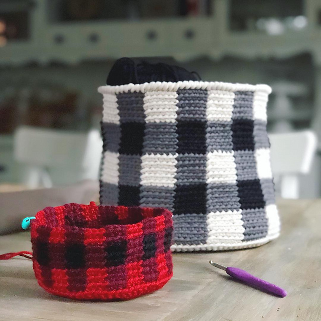 Buffalo Plaid Basket
