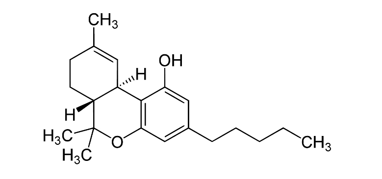 thc chemical structure after decarb