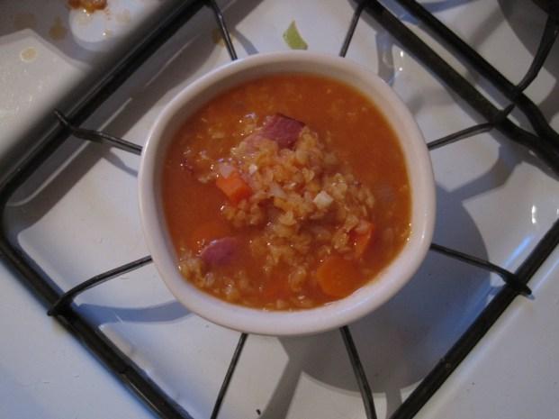 bacon and lentil soup