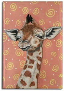 Sleeping giraffe fridge magnet